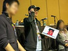 Takahiro Yoshimatsu at his Berryz panel.